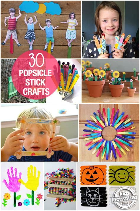 kid craft activities 30 children s crafts with popsicle sticks