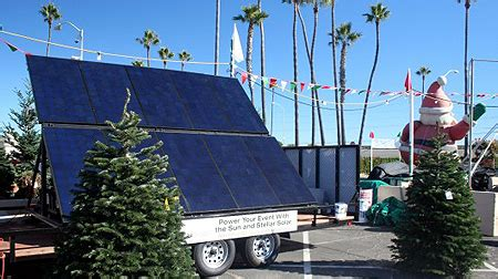 christmas tree lot in san diego powered by solar energy