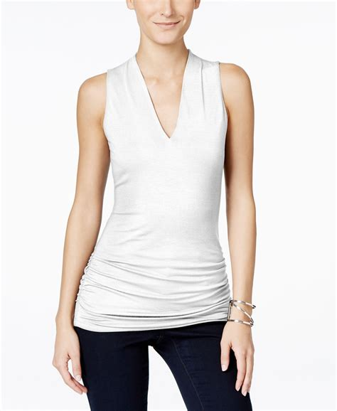 sleeveless top intl inc international concepts sleeveless v neck top only at
