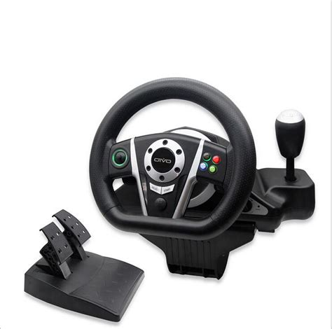 vibration feedback wired usb steering racing wheel and