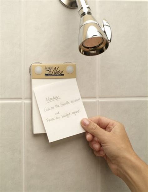 Shower Notepad by Waterproof Notepad For Writing Ideas While In The