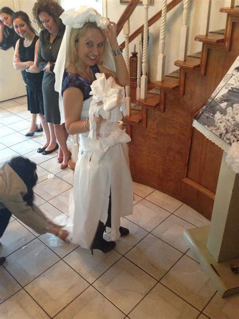 Toilet Paper Wedding Dress Game – A Pretty   Chic Bridal Shower   The Sweetest Occasion