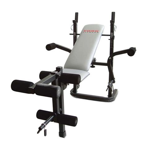 exertec fitness bench weight bench with leg extension and preacher curl