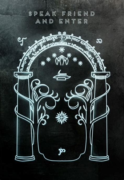 Magic Gate Of Moria Lord Of The Ring The Hobbit Tshirt door of moria middle earth