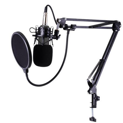 Penyaring Suara Rekaman Pop Filter Mikrofon Dual Layer Windscreen 1 bm800 condenser microphone stand arm mic pop filter