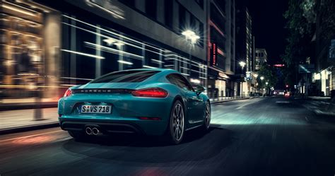 wallpaper porsche cayman  rear view  automotive