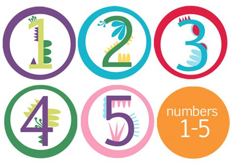printable numbers 1 5 printable cupcake toppers birthday numbers 1 5 childhood101