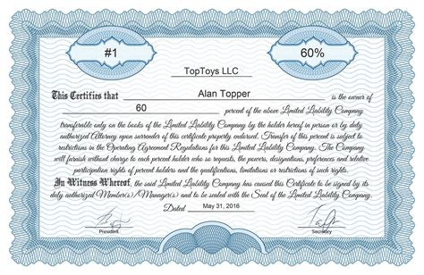 free stock certificate generator