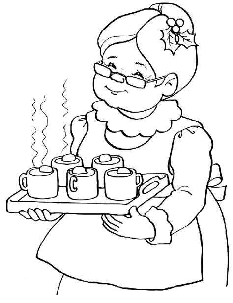 turkey claus coloring page mrs claus coloring pages holiday hand drawn santa