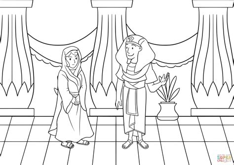 coloring pages of egyptian pharaohs sarai and pharaoh coloring page free printable coloring