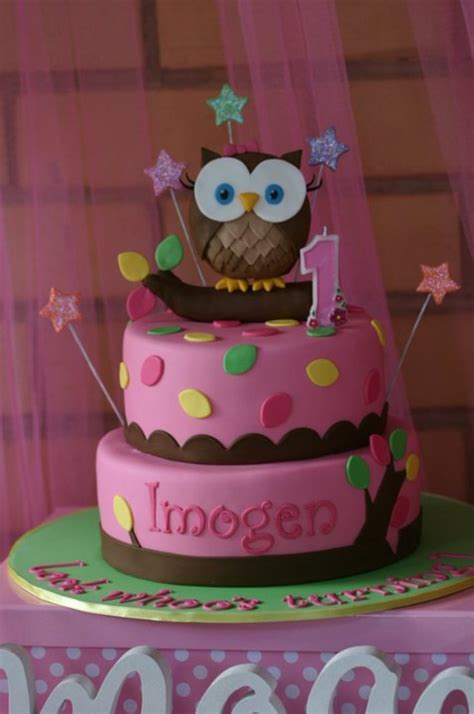 whoos tunring  girly owl cake cakecentralcom