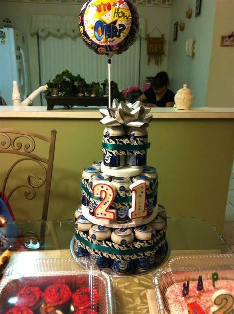 Beer Tower Cake For St  Ee  Birthday Ee   Make Pinterest