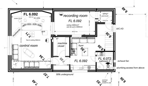 basement plan finalizing basement plans gearslutz pro audio community