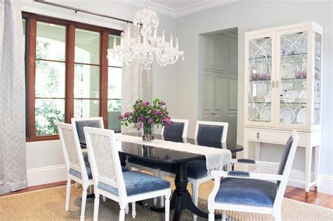 blue dining room table blue dining room design transitional dining room