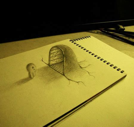 3d Sketches On Paper by 3d Drawing On