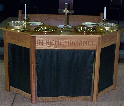 Communion Table by Paul Pastor Builds Traveling Communion Table The