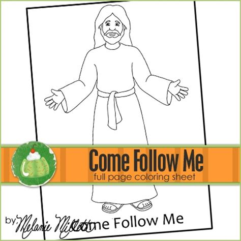 coloring pages jesus follow me come follow me printable coloring page preschool bible