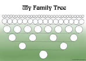 a printable blank family tree to make your genealogy