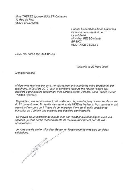 Exemple De Lettre Pour Courrier Administratif Modele Lettre Administrative Type