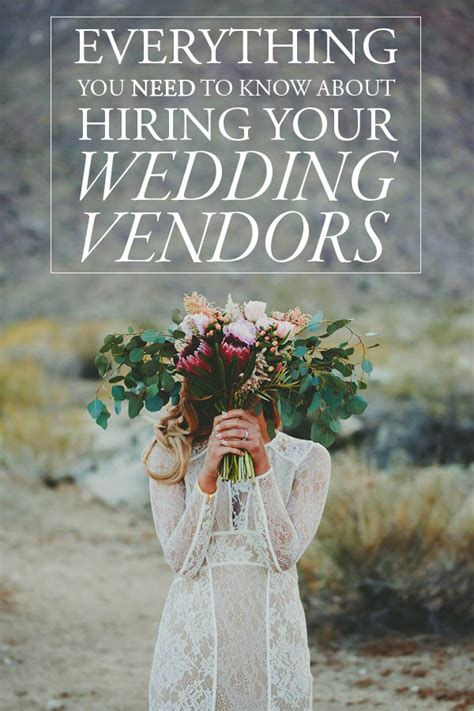 Wedding Vendors by Everything You Need To About Hiring Your Wedding