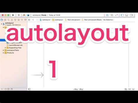 tutorial autolayout xcode 6 xcode 6 tutorials storyboard的通用设备界面布局 doovi