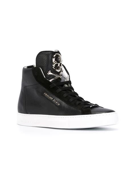 hi top sneakers philipp plein hi top sneakers in black for lyst