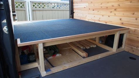 Storage platform for the back of your camper van 9 steps with pictures