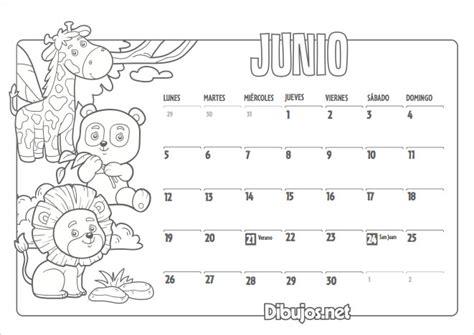 Calendario Para Colorear Calendario Infantil 2017 Para Imprimir Y Colorear