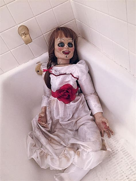 annabelle doll tour the conjuring 2 animatronic annabelle haunted horror prop