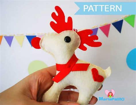 felt reindeer pattern free felt reindeer ornament sewing pattern a1095 the pattern