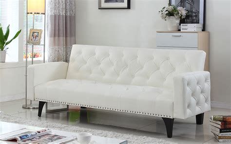 White Futon by White Leather Sleeper Sofa Sofa Surprising White Leather