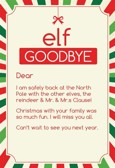 goodbye letter from on the shelf template goodbye letter from on the shelf template