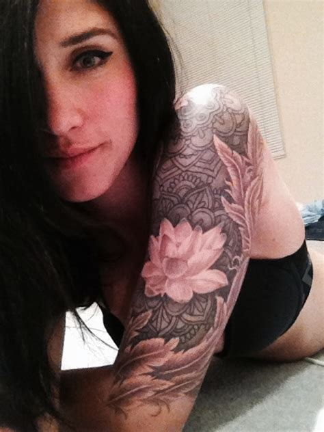 lotus tattoo half sleeve 155 lotus flower tattoo designs