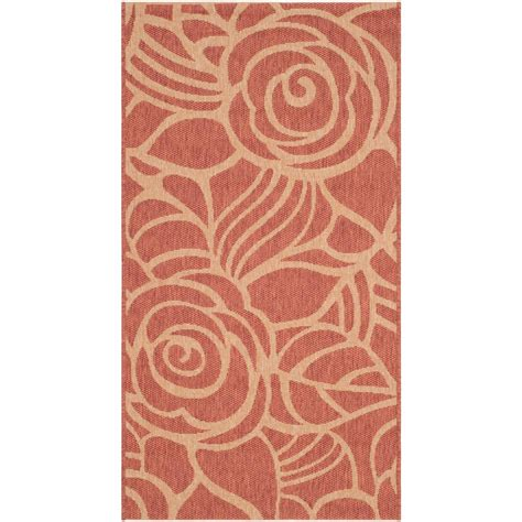 safavieh cy5139a courtyard indoor outdoor area rug rust lowe s canada safavieh courtyard rust sand 2 ft 7 in x 5 ft indoor outdoor area rug cy5141a 3 the home depot