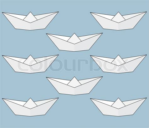 Origami Ships - paper ships background origami isolated illustration on