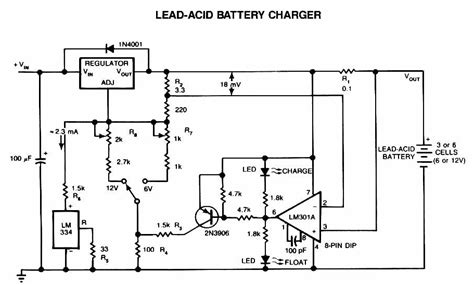 6v automatic battery charger circuit lead acid battery charger circuit