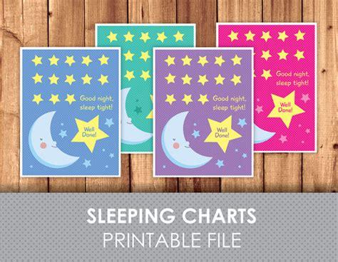 printable reward charts for sleeping good sleeping moon reward chart download by littlegraphics