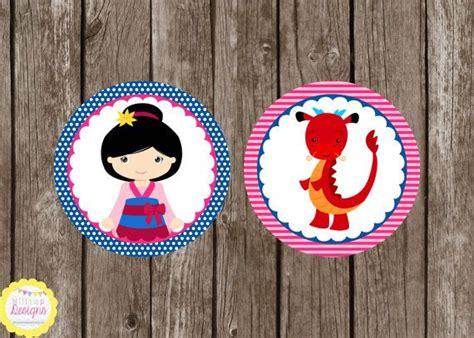 Instan Mulan 2 printable mulan princess cupcake toppers instant
