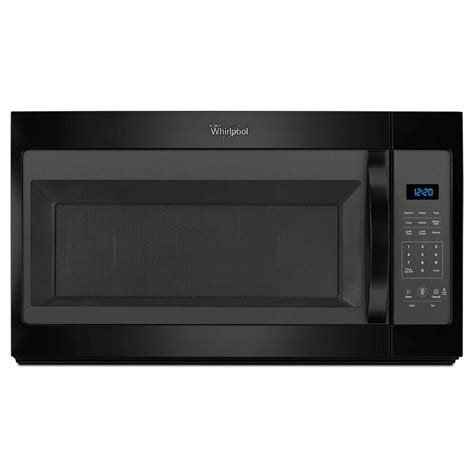 microwave and fan combination whirlpool 1 7 cu ft over the range microwave in black