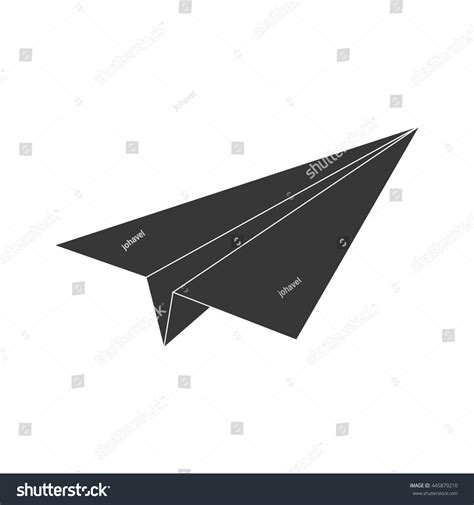 Origami Concept - origami concept represented by paper plane stock vector