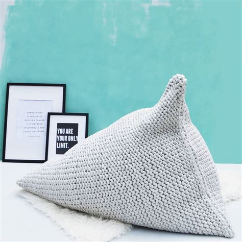 Knitted Bean Bag Knitted Pearl Wedge Bean Bag By