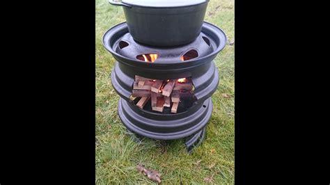 diy outdoorofen felgenofen grill guenstig selber bauen