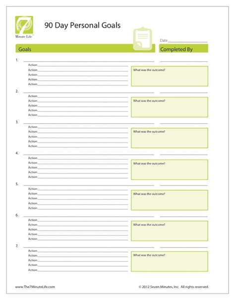 personal goals and objectives template setting personal goals worksheet lesupercoin printables
