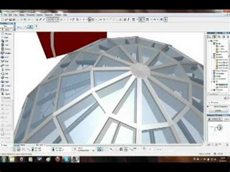 How To Build A Curtain Wall by How To Create Dome Shape With The Curtain Wall In Archicad