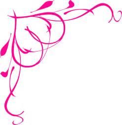 Hot pink heart border clip art vector clip art online royalty
