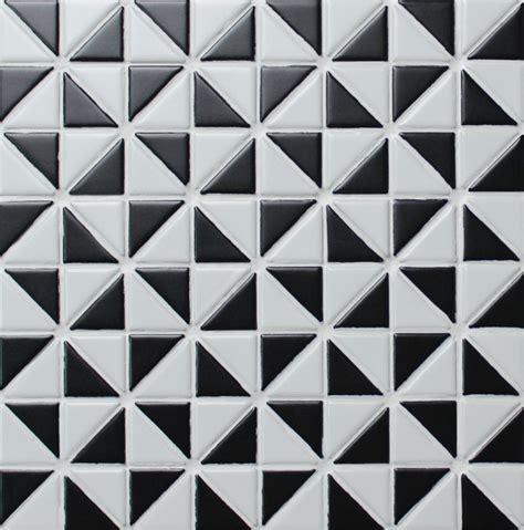 mosaic pattern triangle 1 multi windmill pattern matte porcelain triangle shaped