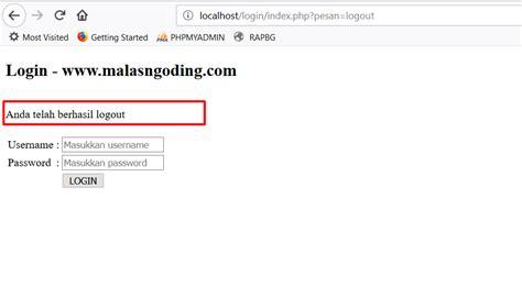 membuat register login logout dengan php membuat login dengan php dan mysqli part 2 malas ngoding