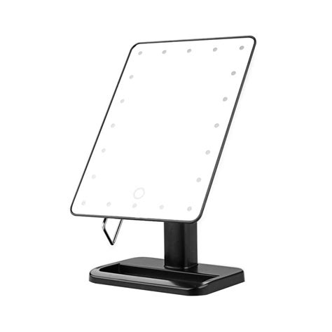 light up cosmetic mirror portable adjustable touch 21 led lighted make up cosmetic