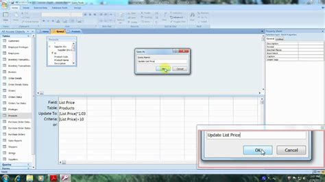 access 2007 tutorial query design access 2007 tutorial how to create a query that updates a