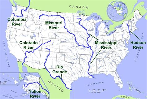 map usa rivers states lakes and rivers in the central united states us